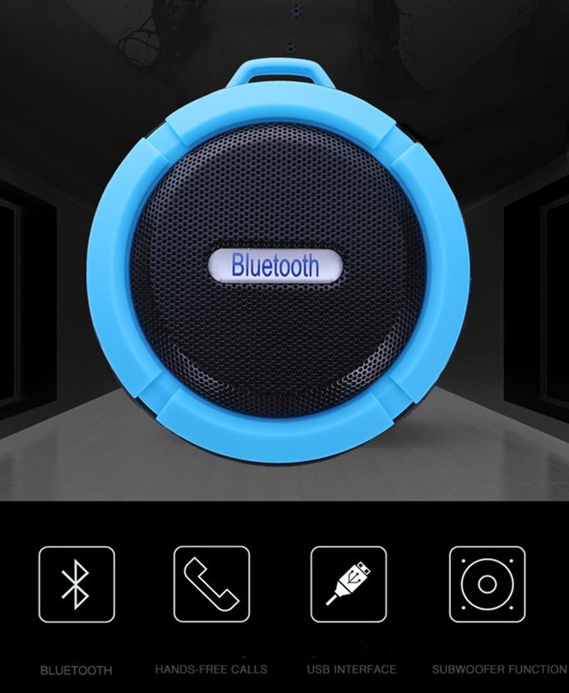 Bluetooth Speakers Waterproof Bluetooth Speaker Bass Wireless Bluetooth Speaker Portable red normal 7