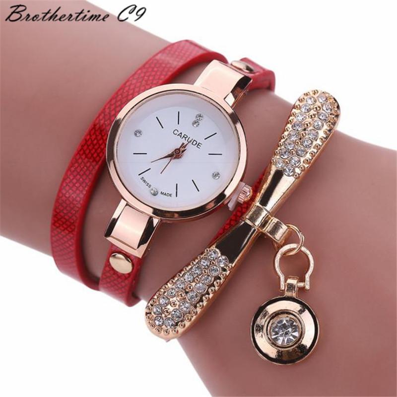 Watches Women Leather Rhinestone Decorative Wristwatches Ladies Pendant Quartz Watches Ladies beige normal 1