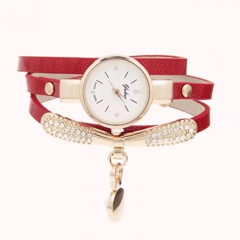 Watches Women Leather Rhinestone Decorative Wristwatches Ladies Pendant Quartz Watches Ladies beige normal 2