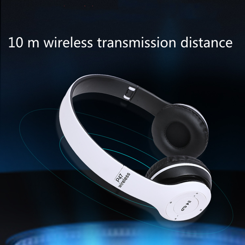 Bluetooth Headset Bluetooth Earphone Wireless Bluetooth Headset  Heavy Bass Headset black normal 5