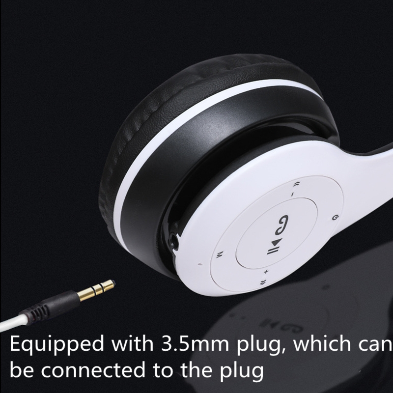 Bluetooth Headset Bluetooth Earphone Wireless Bluetooth Headset  Heavy Bass Headset black normal 9