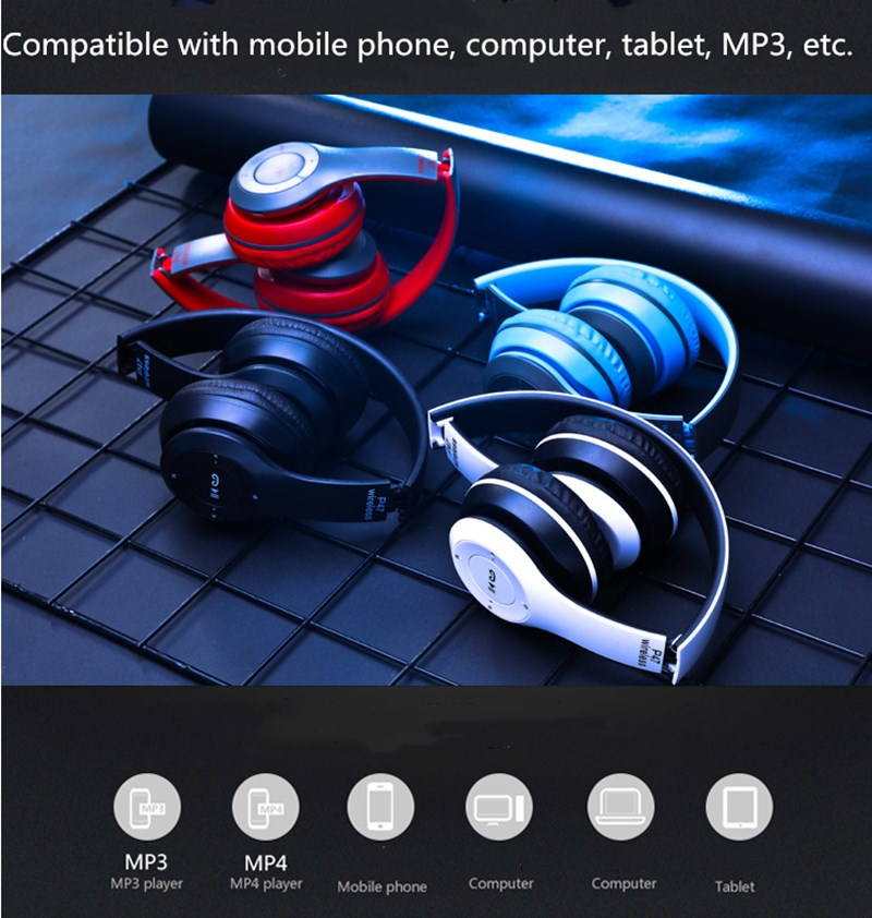 Bluetooth Headset Bluetooth Earphone Wireless Bluetooth Headset  Heavy Bass Headset black normal 13