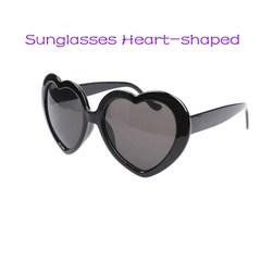 Sunglasses Ladies Sunglasses Women's Sunglasses Heart-shaped Glasses For Women Fashion Sunglasses black normal