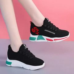 Women Shoes Ladies Shoes Women Shoe Ladies Sneakers Air-permeable Sports Shoes Ladies black 38
