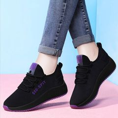 Athletic Sports Shoes Women Breathable Running Shoes Ladies Fashion Casual Shoes For Women violet 39