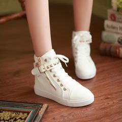 Boots Women Boots Ladies Low Heel Shoes Fashion Boots Flat Shoes Casual Sneakers Ladies white 40