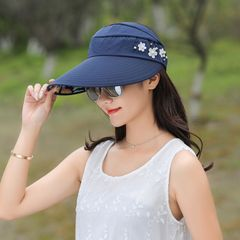 Sun Hats Ladies 2019 Fashion Christmas Gift Hat Ladies Sun Hats Women With Big Heads Hat For Women blue