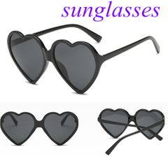 Sunglasses Ladies Sunglasses Women's Sunglasses Heart-shaped Glasses For Women Fashion Sunglasses black normal
