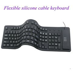 Keyboard Kenya Black Friday And Silicone Keyboards For Tablet Water-proof USB Keyboard Protectors black normal
