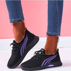 Official Shoes Breathable Sneakers Women Shoes Ladies Shoes For Women Rubber Shoes School Shoes violet 39