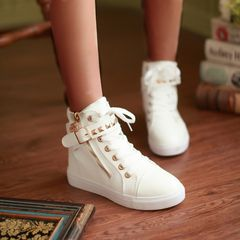 Boots Women Boots Ladies Low Heel Shoes Fashion Boots Flat Shoes Casual Sneakers Ladies white 39