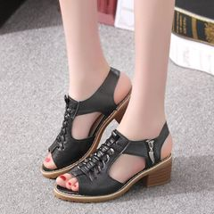 Sandals Women Sandals Ladies Shoes Women Shoes Ladies Sandals With Medium Heels Sandals For Women black 39