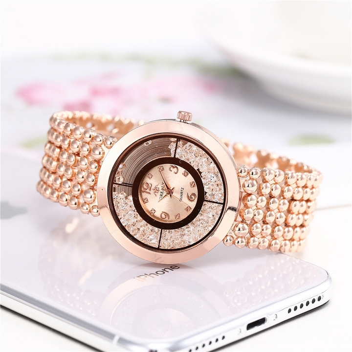 Fashion Luxury Diamond Women Watch Pointer Dial Watches rose gold diameter of dial 38mm