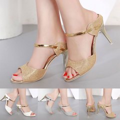 Summer Women Pumps Small Heels Shoes Gold Silver Stiletto High Heels Peep Toe  Sandals Ladies Shoes white 35