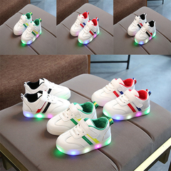 2019 Spring Baby Girl Fashion LED Flash Sneakers Boy Kids Breathable Casual light board shoes 01 21