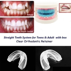 Orthodontic Straight Teeth System Teens & Adult / A retainer+Box White