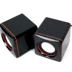 Desktop notebook USB mini speaker box small speaker portable speaker MP3 small speaker Black