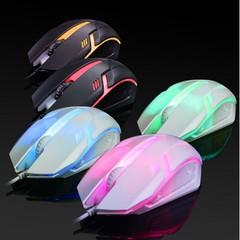 Colorful LED Optical USB Wired Mouse Computer Mouse Gaming Mouse For Gamer black one size