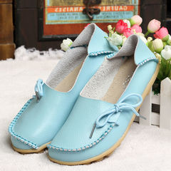 8b9cb3739cf6 Women Flats Slip On Women Loafers Soft Moccasins With Genuine Leather Shoes  Woman Plus Size Shoes