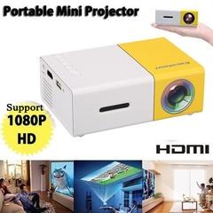 YG-300 Mini Projector Media Movie Player Support 320 X 240 HDMI/USB/AV/CVBS For Home School Indoor Yellow US