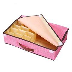 Foldable Closet Underwear Organizer Storage Box Drawer Divider for Underwear Bras Socks pink