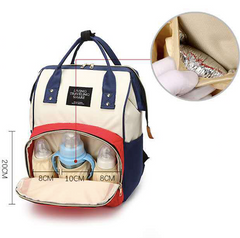 Multi-Function Diaper Bag Big Capacity Travel Backpack Nappy Bags for Baby Care Red