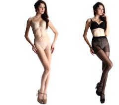 12 pairs of core-wrapped silk shiny transparent stockings sexy women's bottom socks biack s