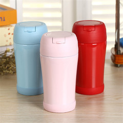 360 ml stainless steel double-wall hot cup, vacuum cup, bottle, stuffy beaker pink 360ml