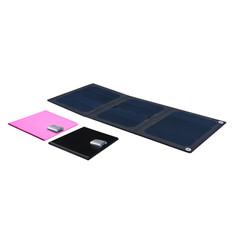 9wPortable Solar Panel USB Charging Bag Foldable Black/Pink Black 9w