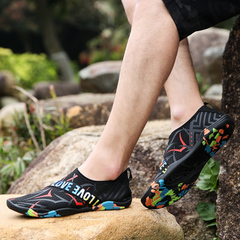 Lovers Leisure Outdoor Stream Tracking Dried Travel Mountaineering Shoes 35-46 black and red 38