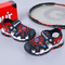 Fashionable Spider-Man Baotou Magic Sticker Sandals Boys Red, Orange and Blue red  and black 26