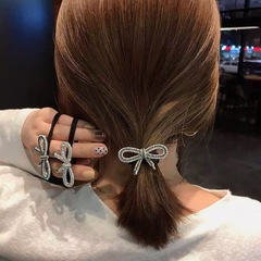New type of flash drill bow hair ring cute and simple lady's head rope