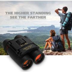 Outdoor Portable Travel Sakura Night Vision Mini 30x60 Binoculars Telescopes black 6CM Black blue film 30*60
