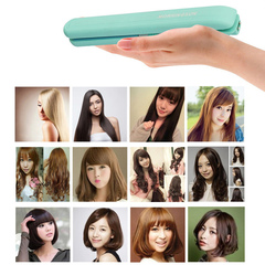 30WPortabl ElectricSplintFlat IronCeramicHairCurlerStraightener Hair Perming Hair Styling Blue Pink 30W