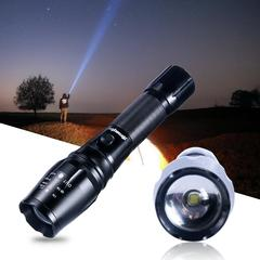 Scalable rechargeable light flashlight emergency light strong cold light black one size