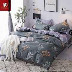 Hot 4Pcs Bedding Set (1 Duvet cover+1 Bed sheet+2 Pillow covers) flowers flowers 1.0m wide
