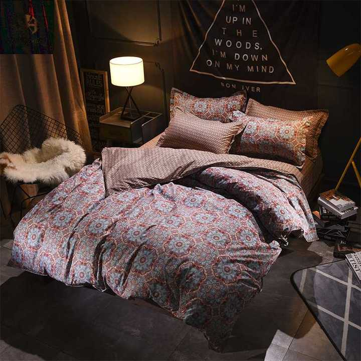 Hot 4Pcs Bedding Set (1 Duvet cover+1 Bed sheet+2 Pillow covers) Abstract art Abstract art 1.0m wide