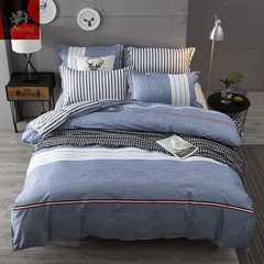 Hot 4Pcs Bedding Set (1 Duvet cover+1 Bed sheet+2 Pillow covers) First love feeling First love feeling 1.0m wide