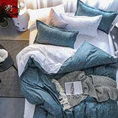 Hot 4Pcs Bedding Set (1 Duvet cover+1 Bed sheet+2 Pillow covers) Modern and simple Modern and simple 1.0m wide