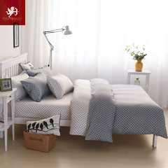 Hot 4Pcs Bedding Set (1 Duvet cover+1 Bed sheet+2 Pillow covers) Plain and elegant dots Plain and elegant dots 2.2m wide