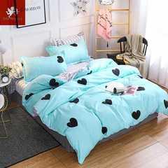 Hot 4Pcs Bedding Set (1 Duvet cover+1 Bed sheet+2 Pillow covers) Cute girl Cute girl 1.0m wide