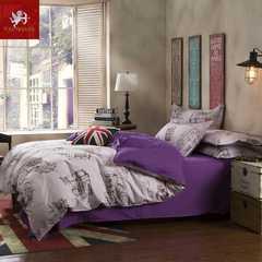 Hot 4Pcs Bedding Set (1 Duvet cover+1 Bed sheet+2 Pillow covers) Simple and exotic Simple and exotic 1.0m wide