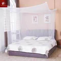 Hot 1pcs White Four Corner Post Student Canopy Bed Mosquito Net Netting Queen King Twin Size white 1.5m (5 inch) bed