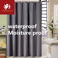 Hot water shower curtain waterproof dark gray shower curtain with hook green home decoration Dark gray 80*180cm