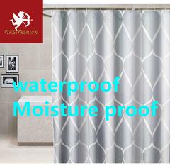 Hot water shower curtain waterproof simple flower shower curtain with hook green home Simple 80*180cm