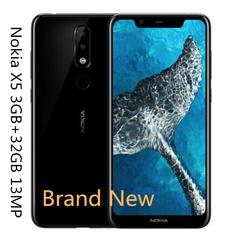 Original 98%new Nokia X5( 3G RAM 32GB ROM )5.8 13.0MP Camera 5.8 INCH fingerprint smart Mobile phone black