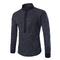 New arrival fashion men's casual dot sleeve shirt Black M