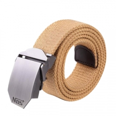 Men Fashion Design Canvas Belt Thick Canvas Belt Khaki