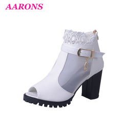 Summer hot snapped up new fashion women's casual high-heeled wedge sandals back zipper women's shoes white 40
