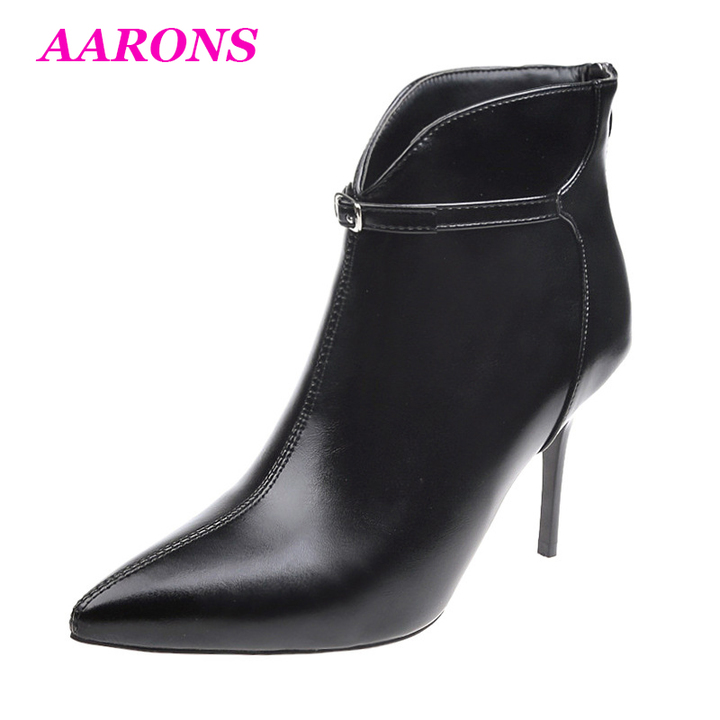 8e27e40f387 New women's ankle boots sexy high-heeled boots fashion versatile pointed  stiletto Martin boots black